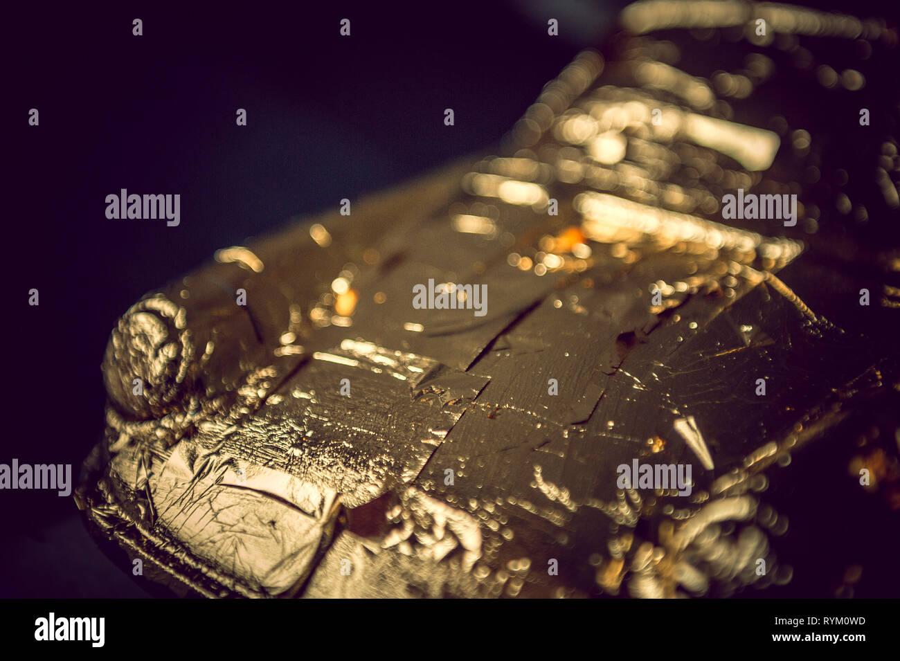 Golden Porsche - Stock Image