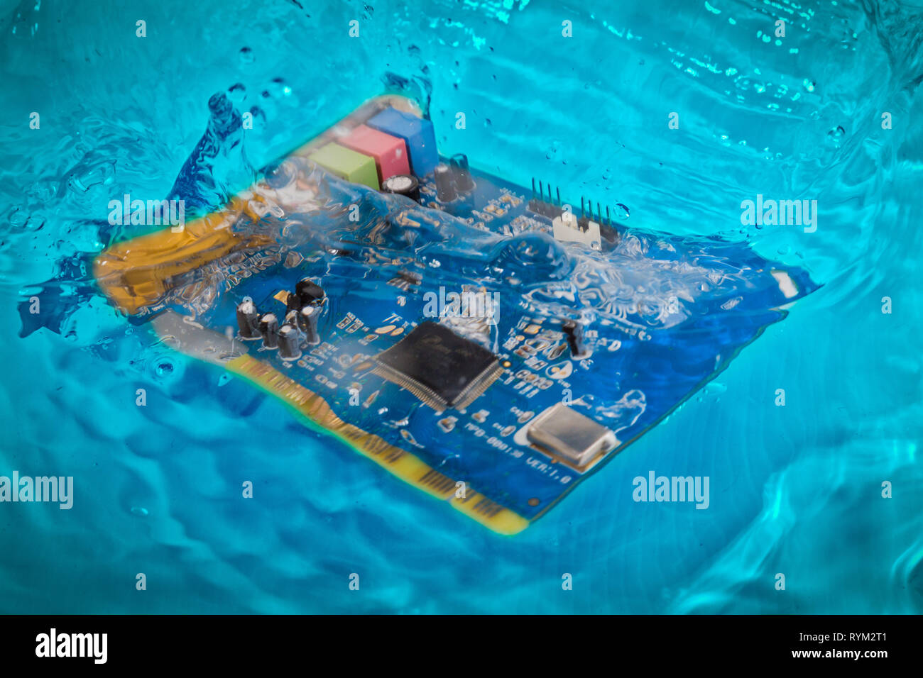 Water With Circuit Board Stock Photos & Water With Circuit