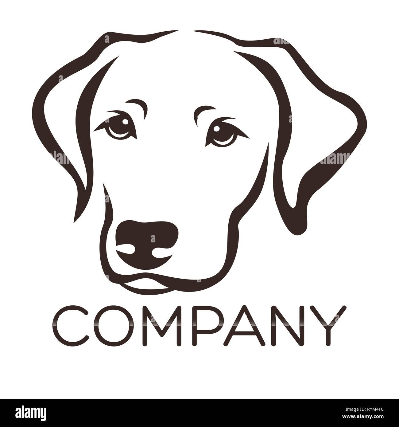 Dog Labrador Logo Stock Photo 240773104 Alamy
