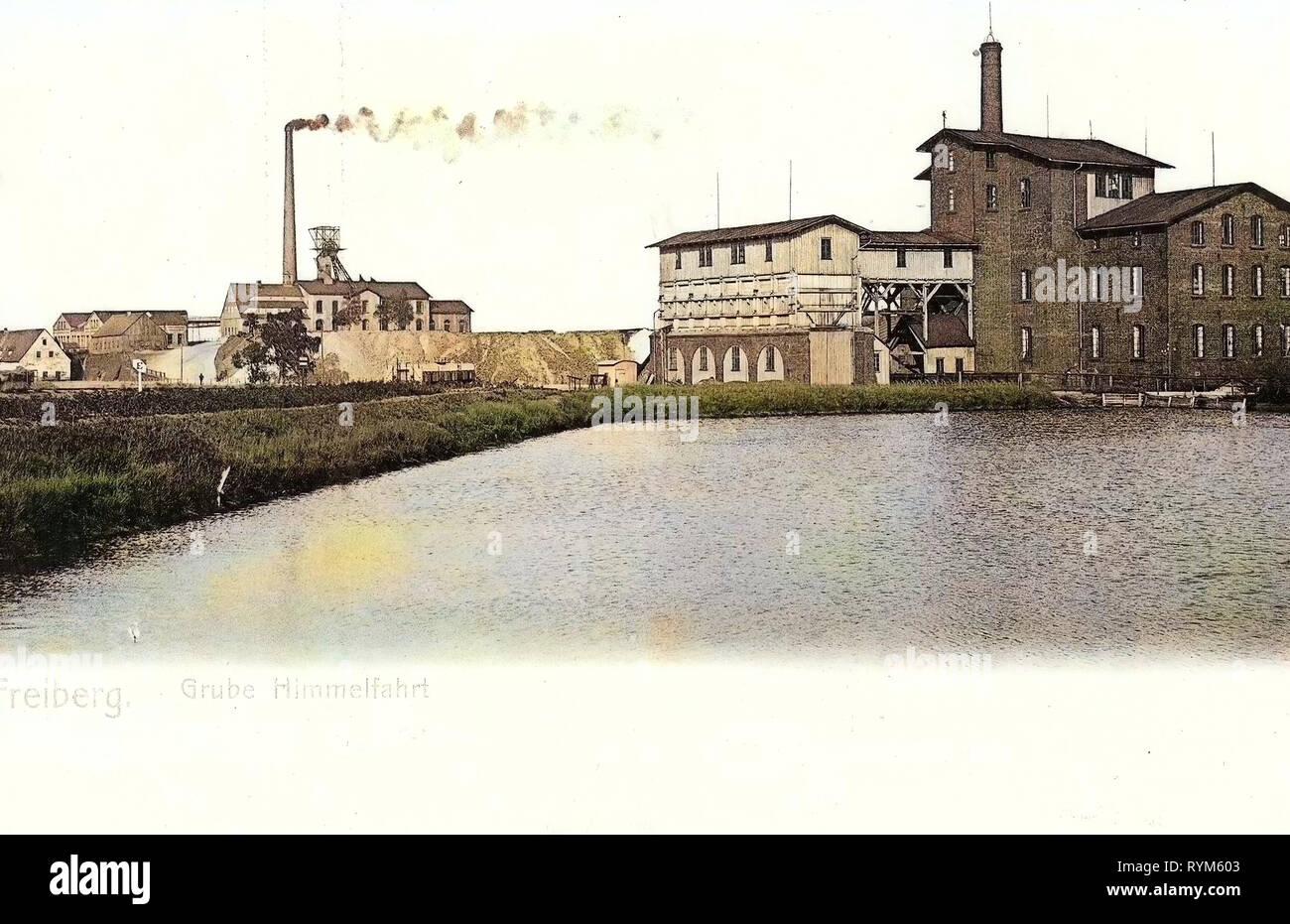 Ponds in Landkreis Mittelsachsen, Himmelfahrt Fundgrube, 1903, Landkreis Mittelsachsen, Freiberg, Grube Himmelfahrt, Germany - Stock Image
