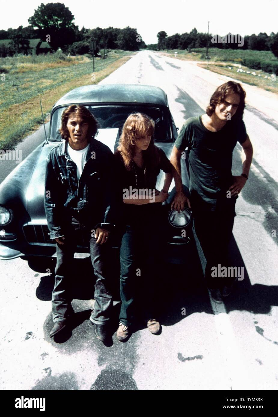 WILSON,BIRD,TAYLOR, TWO LANE BLACKTOP, 1971 - Stock Image