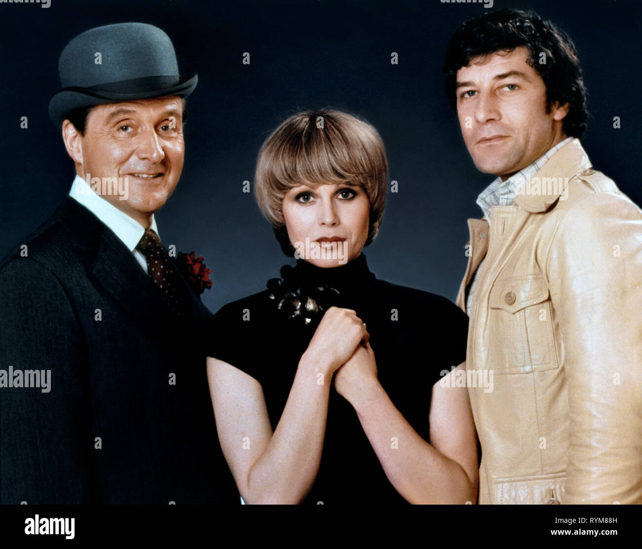 MACNEE,LUMLEY,HUNT, THE NEW AVENGERS, 1976 - Stock Image