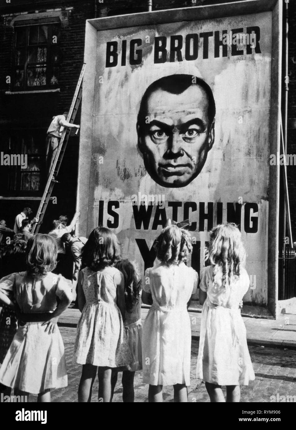 BIG BROTHER IS WATCHING POSTER, 1984, 1956 Stock Photo