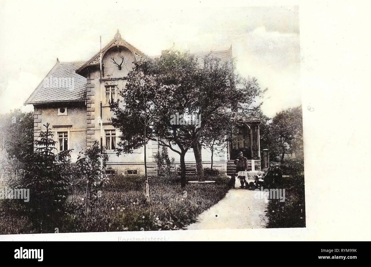 Category, Lungwitz, 1903, Forstmeisterei - Stock Image