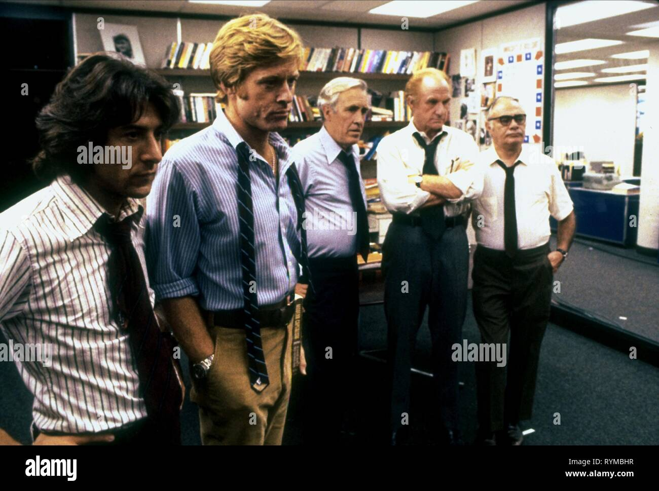 HOFFMAN,REDFORD,ROBARDS,WARDEN,BALSAM, ALL THE PRESIDENT'S MEN, 1976 - Stock Image
