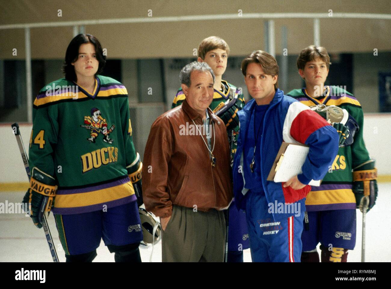 TUCKER,ESTEVEZ,JACKSON, D2: THE MIGHTY DUCKS, 1994 - Stock Image