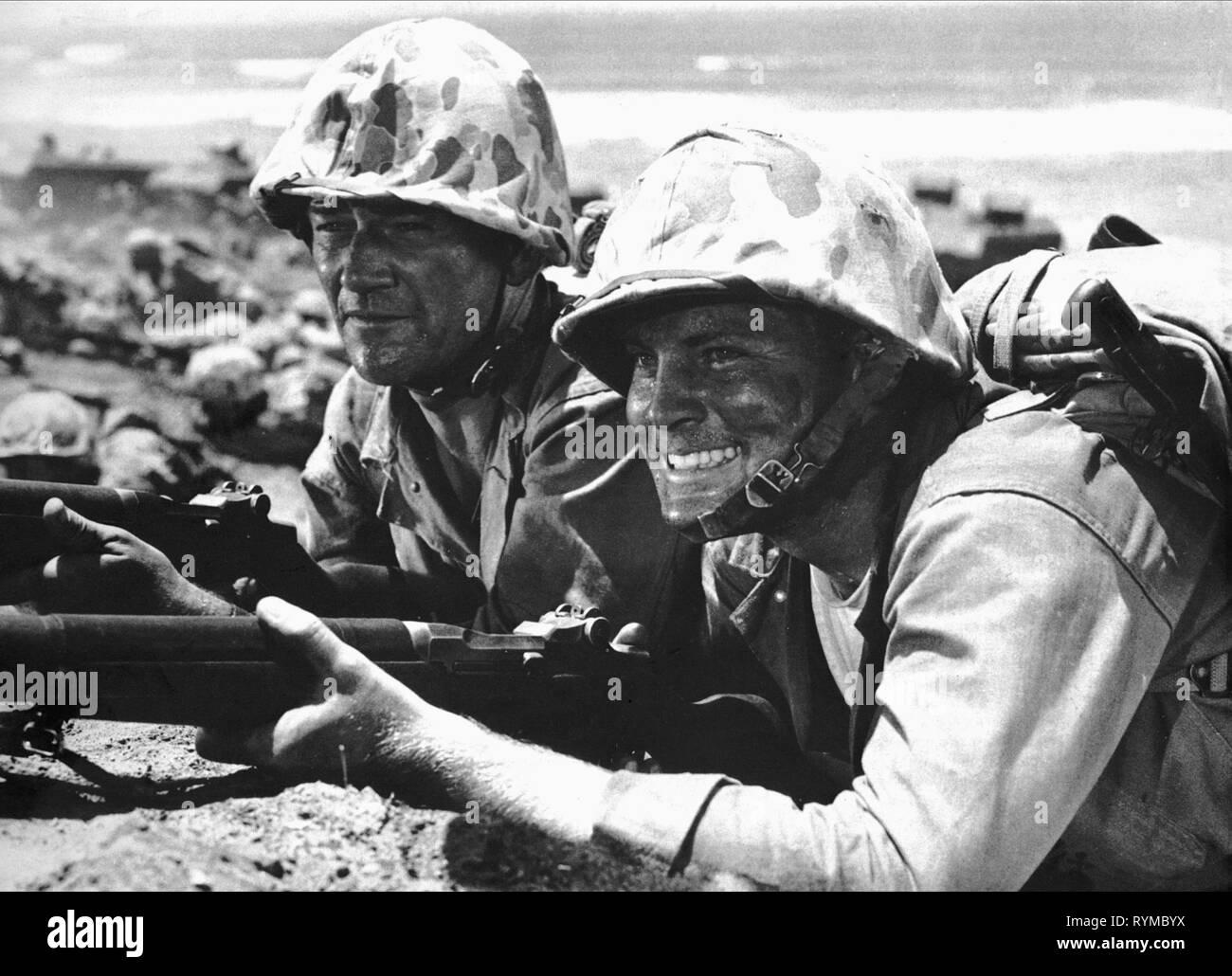 WAYNE,AGAR, SANDS OF IWO JIMA, 1949 - Stock Image