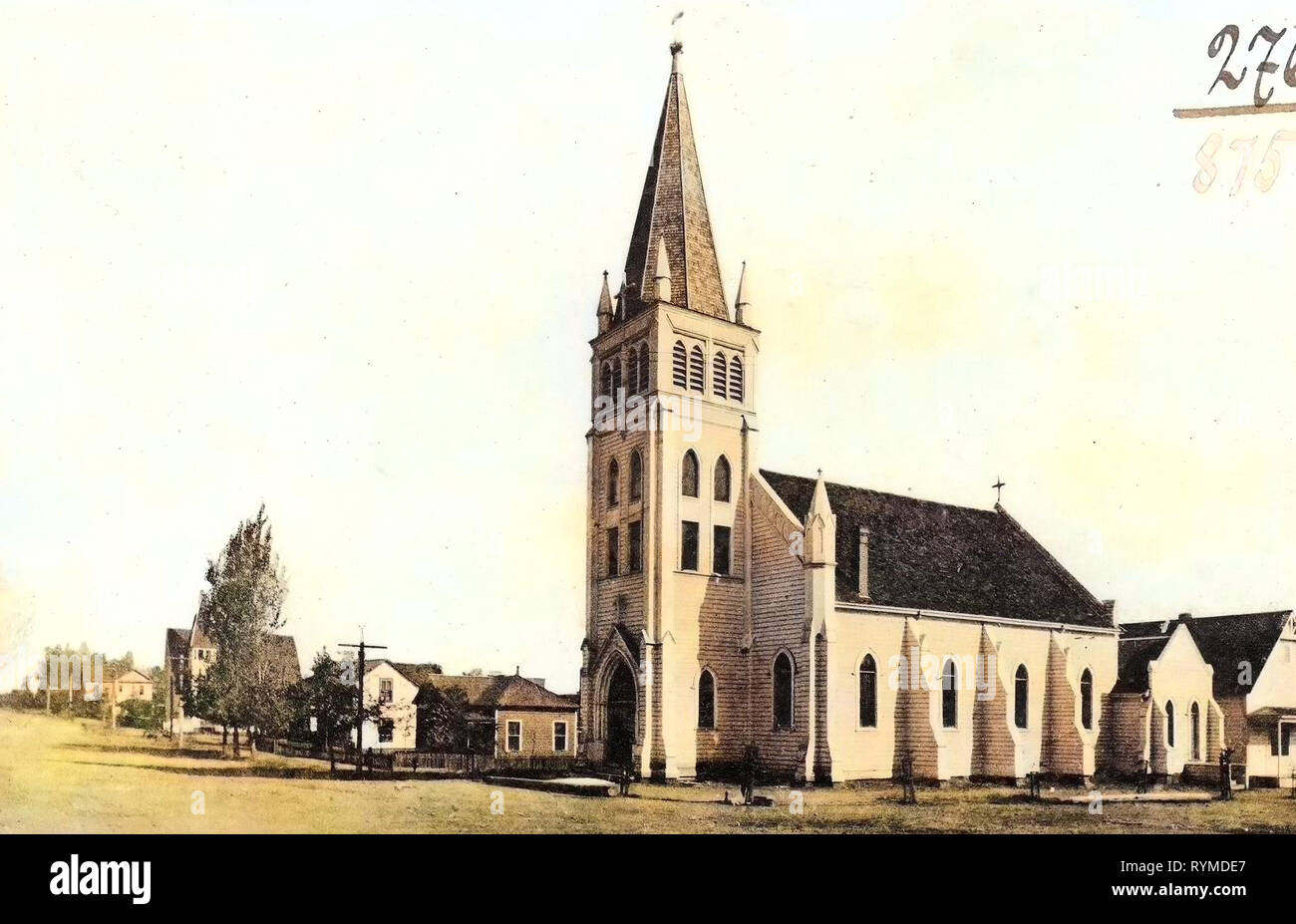 Churches in the Roman Catholic Diocese of Sacramento, Buildings in Redding, California, 1906, Redding, Cal., Catholic Church', United States of America - Stock Image