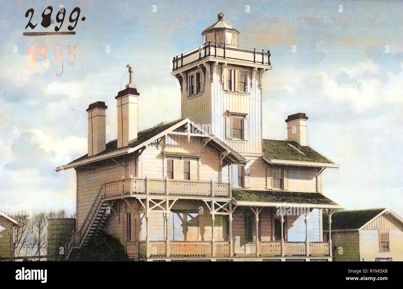 Lighthouses in California, Ventura County, California, 1906, Hueneme, Cal., The light House', United States of America - Stock Image