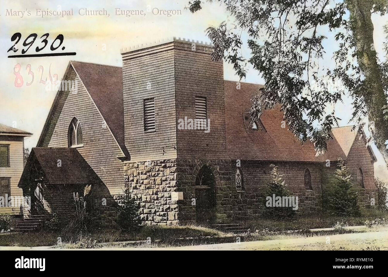 Churches in the Episcopal Diocese of Oregon, Buildings in Eugene, Oregon, 1906, Eugene, Ore, St. Marys Episcopal Church', United States of America Stock Photo