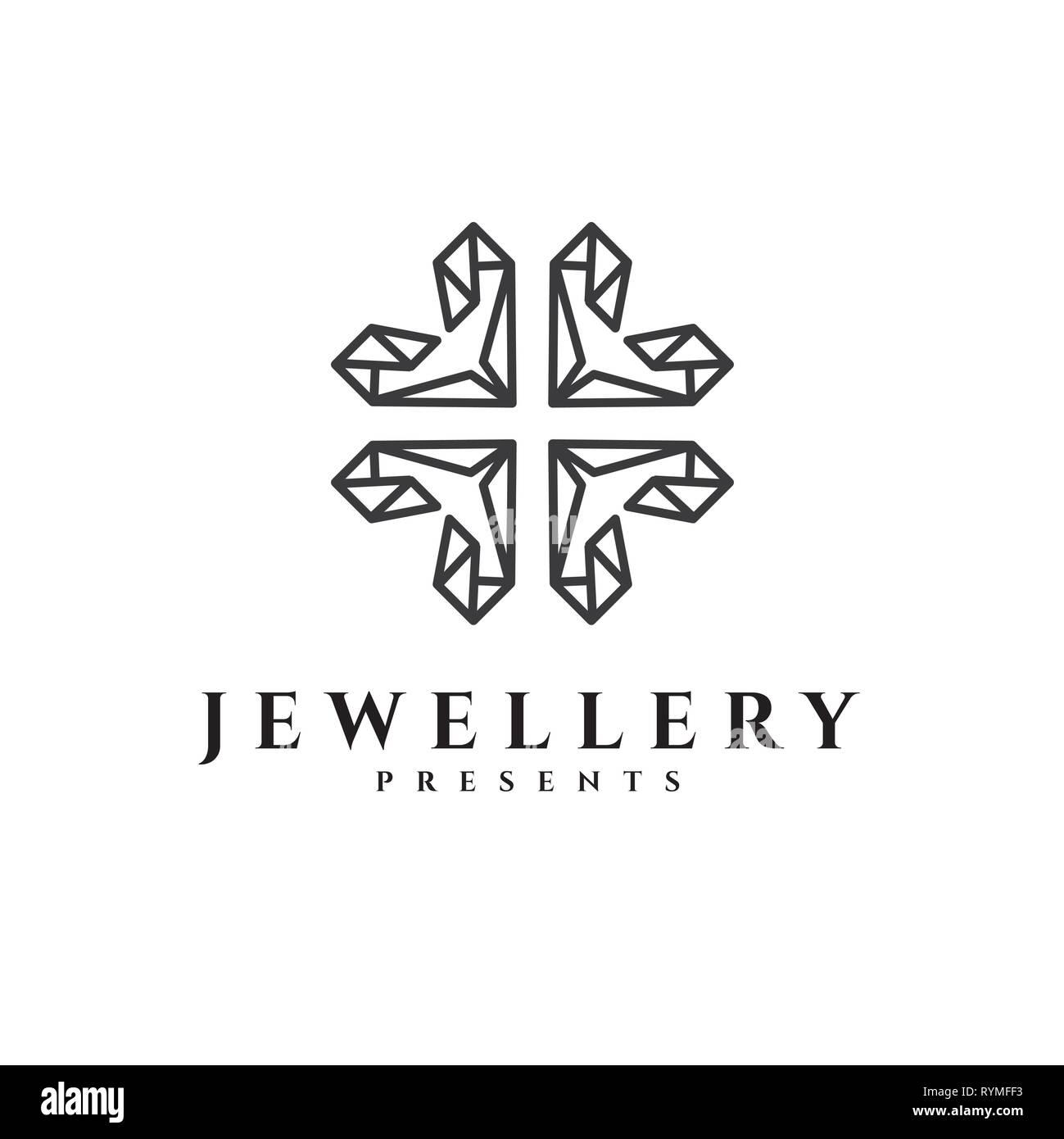 Jewellery vector logo - Stock Image