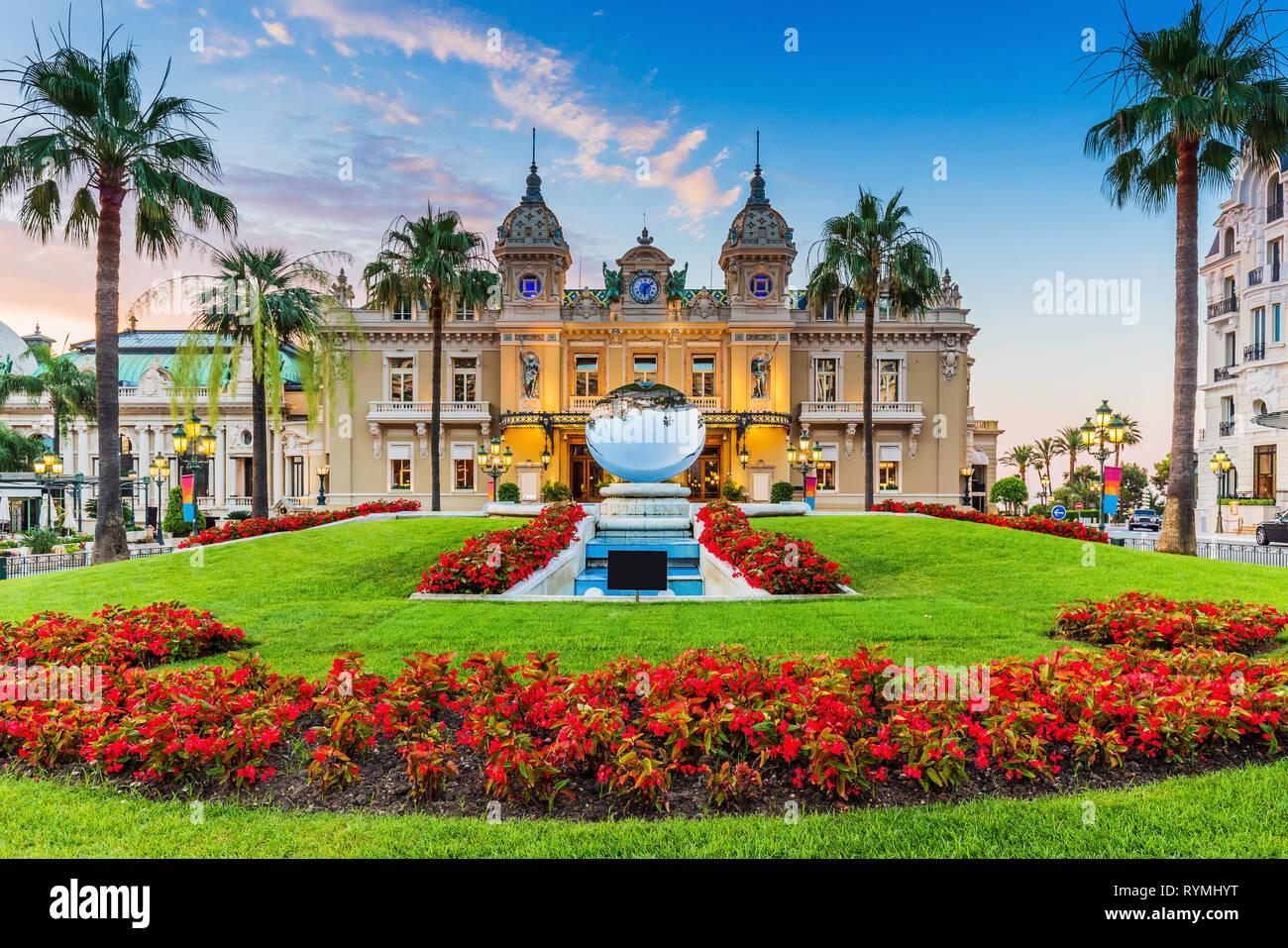 Monte Carlo, Monaco. Front of the Grand Casino. - Stock Image