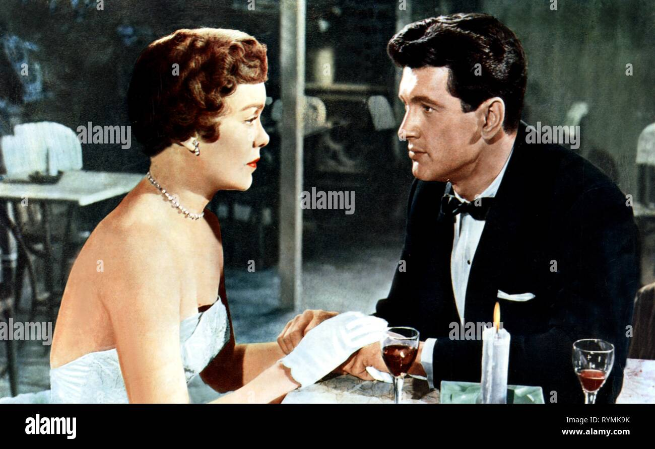 WYMAN,HUDSON, MAGNIFICENT OBSESSION, 1954 - Stock Image