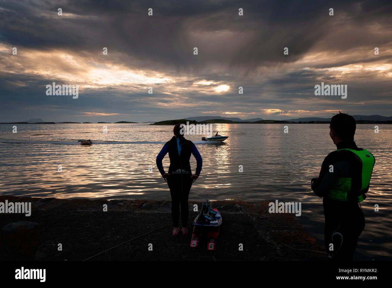 Watersports in Clew Bay Westport County Mayo - Stock Image