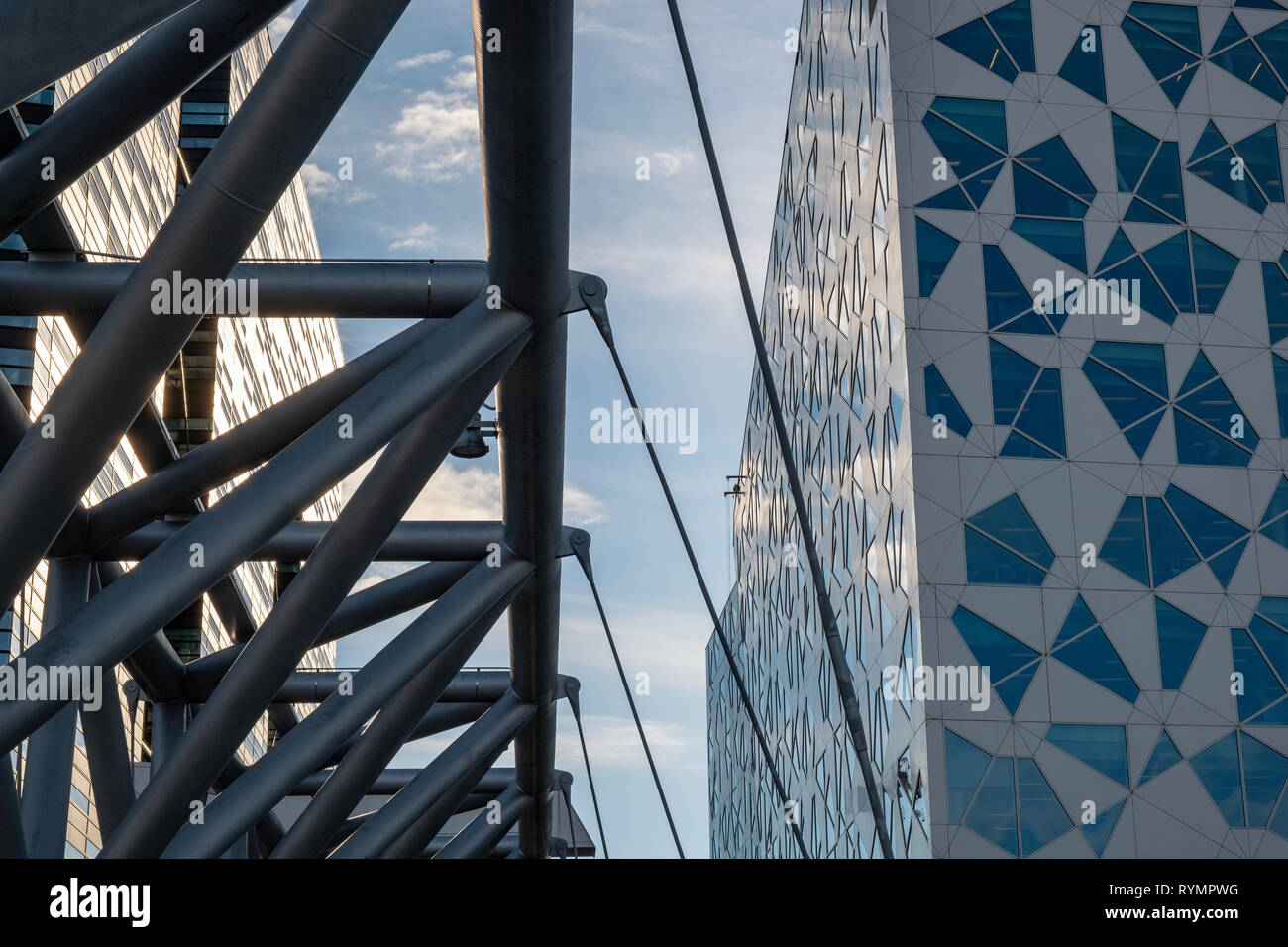 Modern business building, Oslo downtown - Stock Image