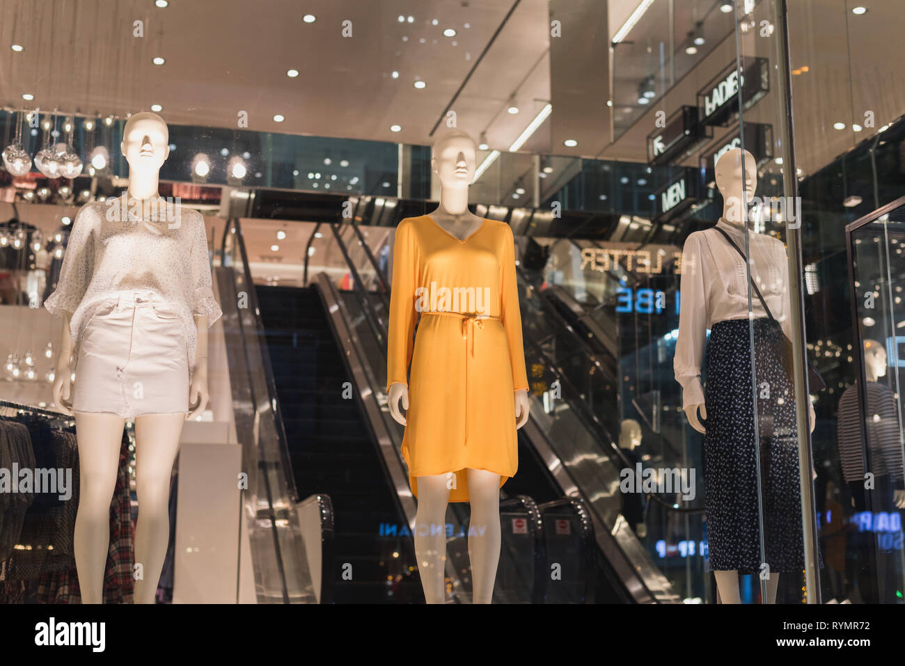 1acb6c0678 Ho Chi Minh City, Vietnam - January 8, 2019: women mannequins in summer