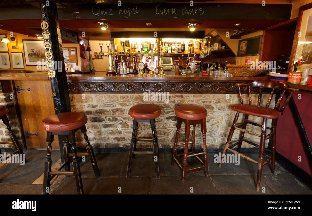 Bar area of village pub the Horse and Jockey, Stanford in the vale. Oxfordshire - Stock Image