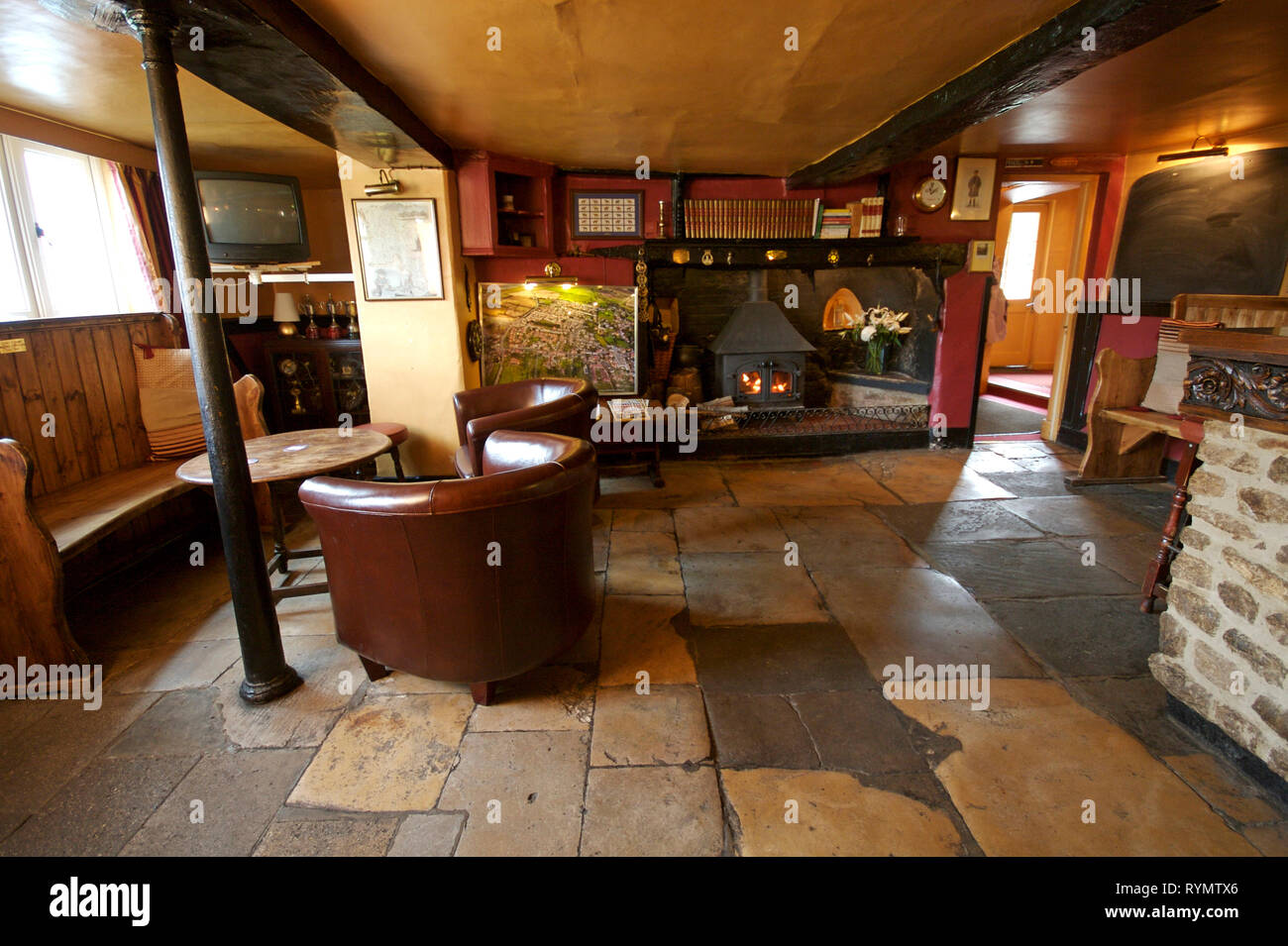 Interior of village pub. Horse and jockey in Stanford in the vale. Oxfordshire - Stock Image