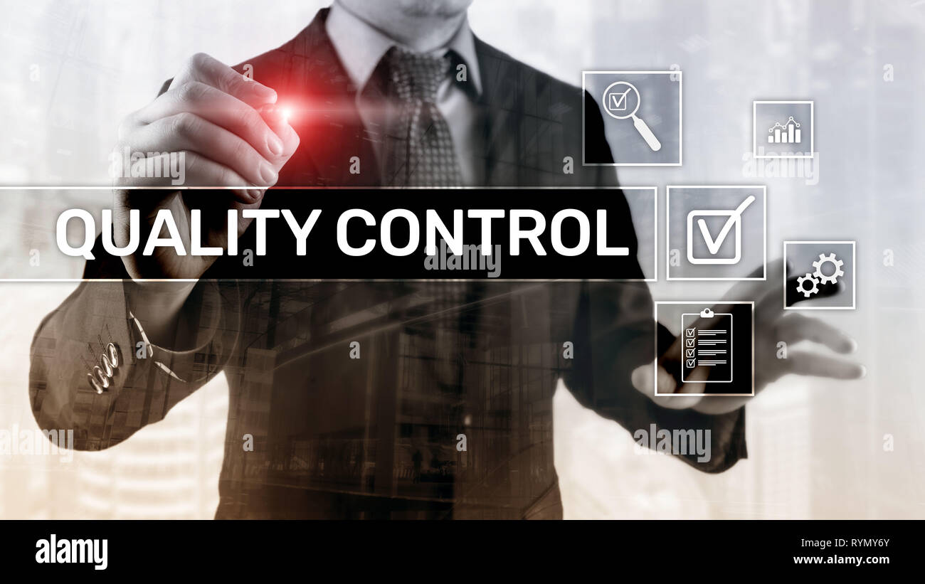 Quality control and assurance. Standardisation. Guarantee. Standards Business and technology - Stock Image