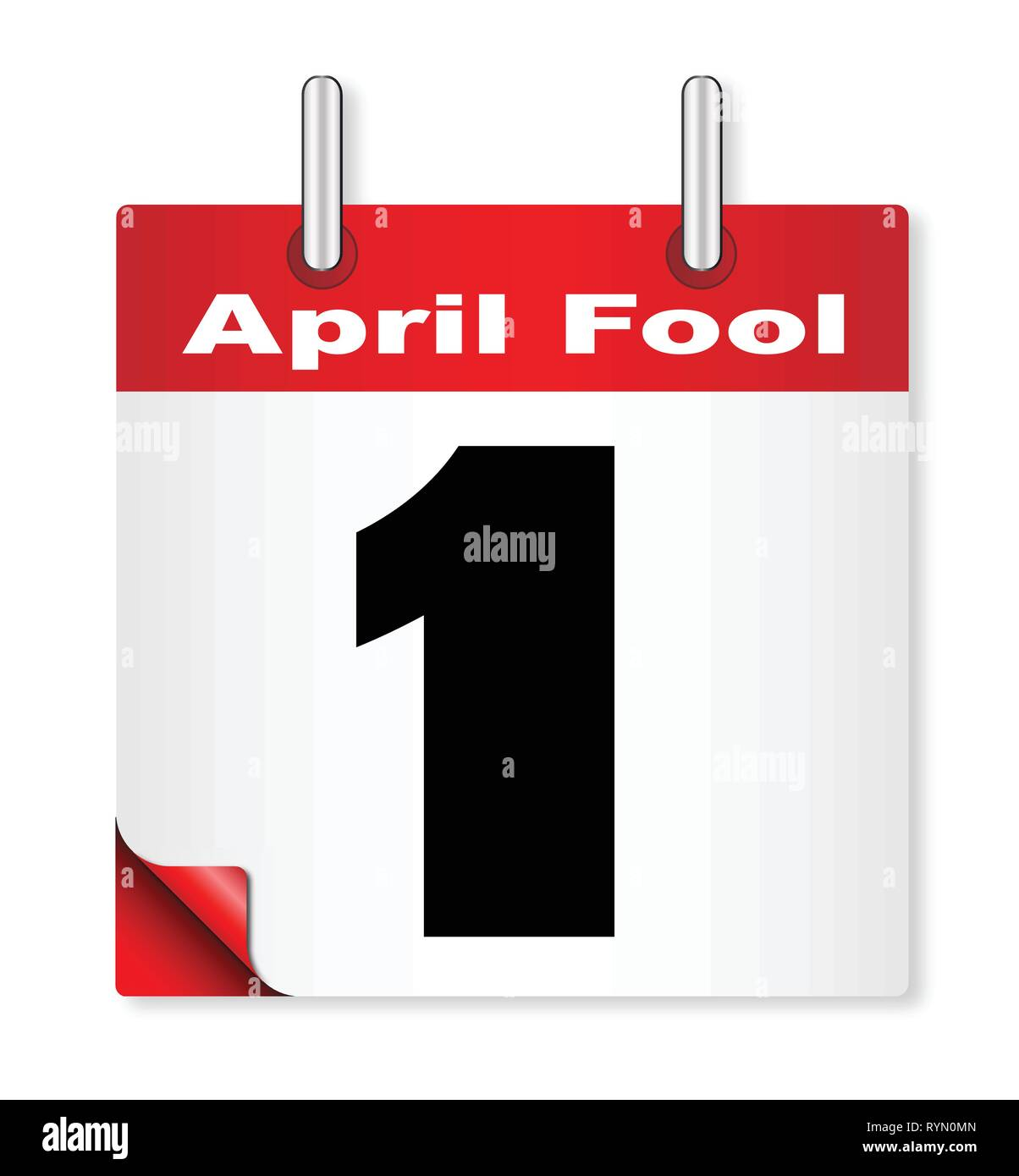 A calender date offering the 1st April fools day - Stock Vector
