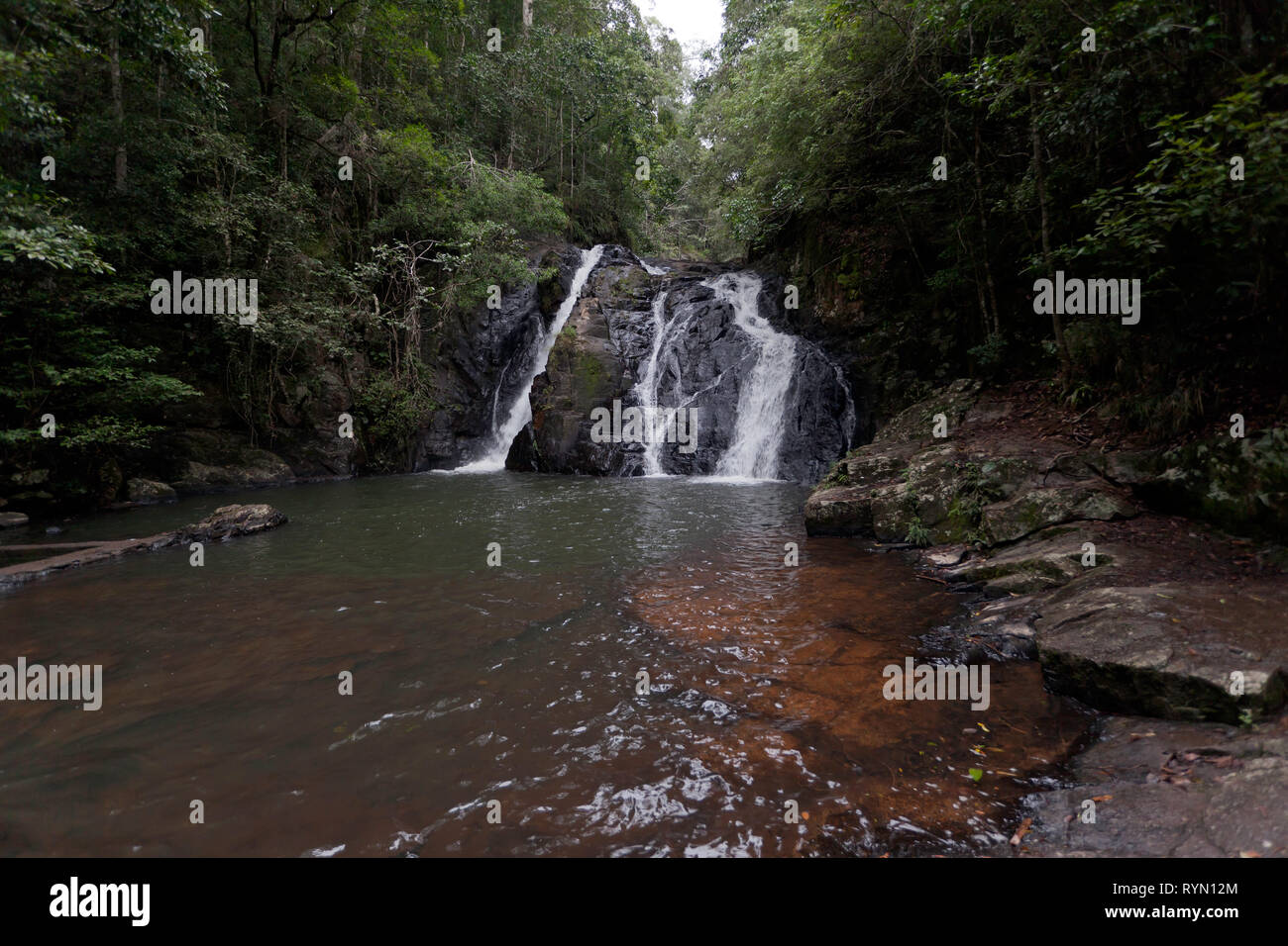 Part of the Dinner Falls in the  Mount Hypipamee National Park,  Atherton Tableland, Queensland, Australia - Stock Image