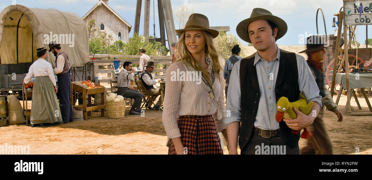 THERON,MACFARLANE, A MILLION WAYS TO DIE IN THE WEST, 2014 - Stock Image