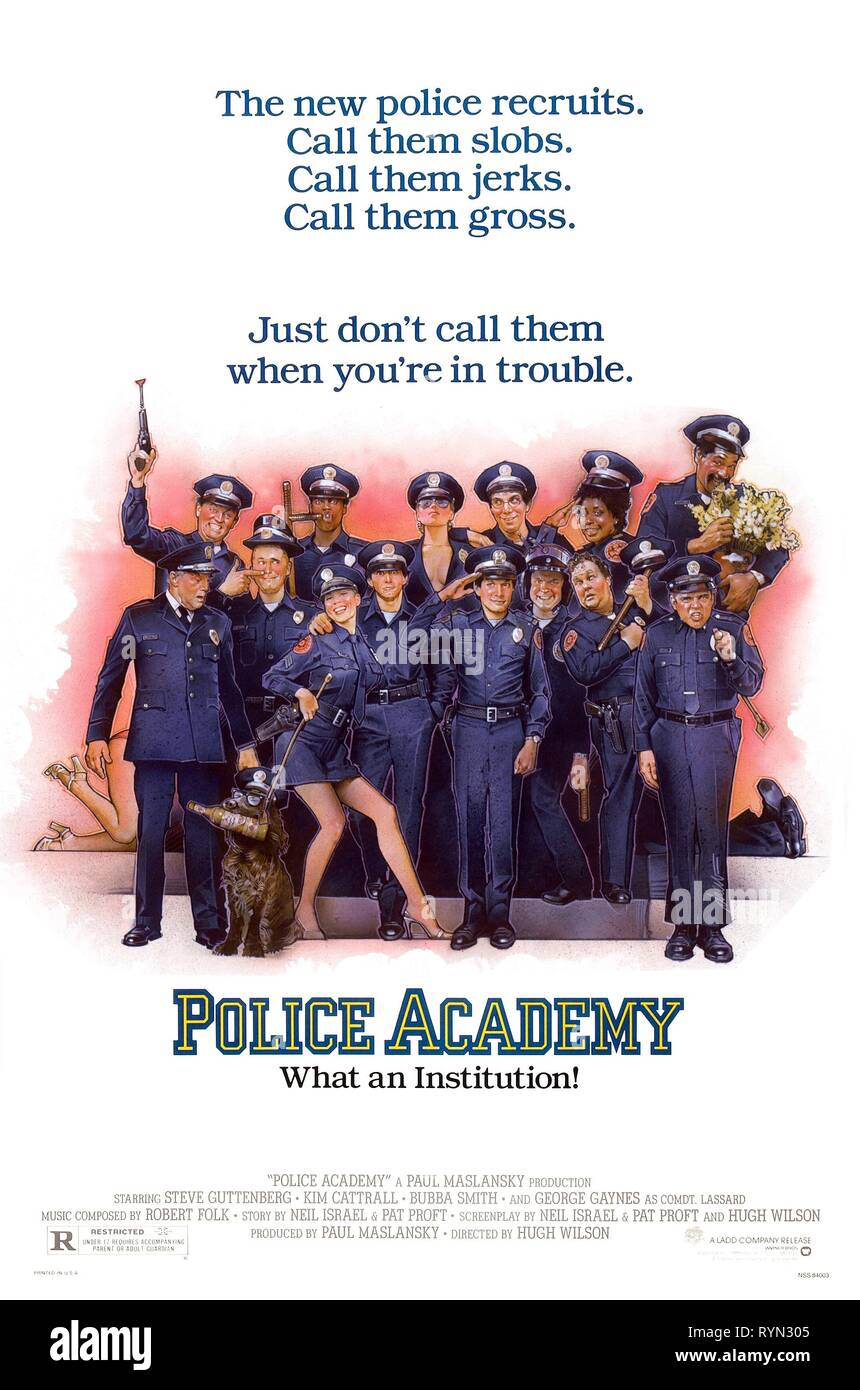 MOVIE POSTER, POLICE ACADEMY, 1984 - Stock Image