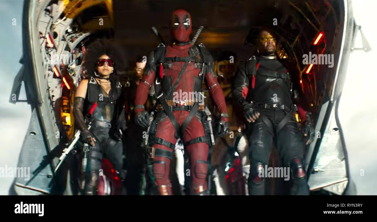 BEETZ,REYNOLDS,CREWS, DEADPOOL 2, 2018 - Stock Image