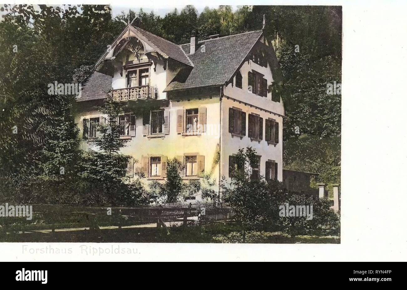 Category, Rippoldsau, 1904, Forsthaus - Stock Image