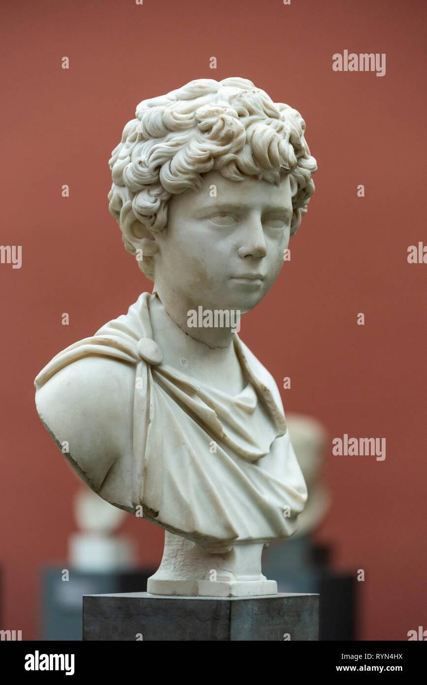 8 Year Boy Bedroom Design: Copenhagen. Denmark. Portrait Bust Of Roman Emperor Lucius