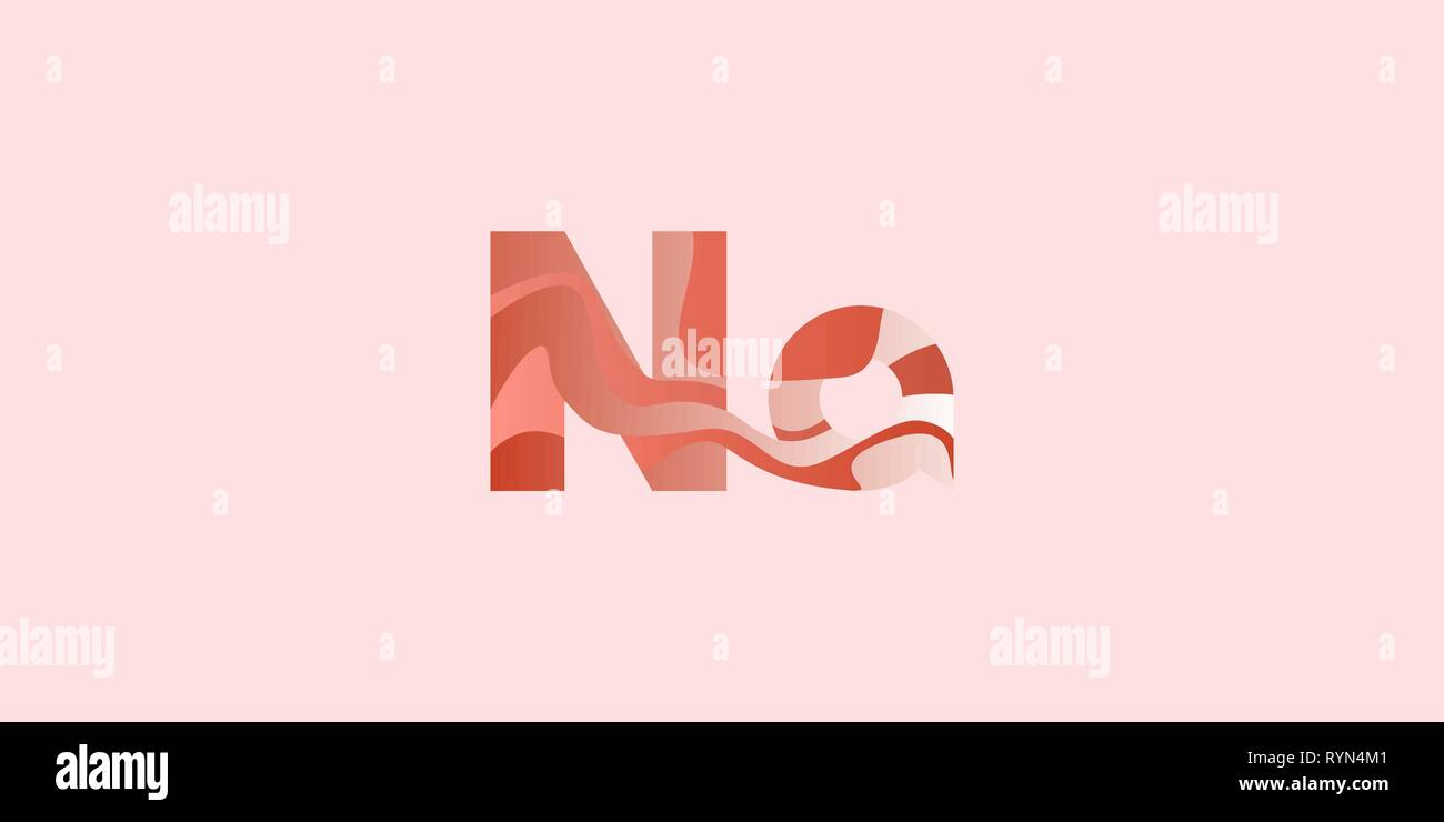 Na Natrium modern chemical element, great design for any purposes. Science research concept. Vector illustration with chemical element for concept des - Stock Vector