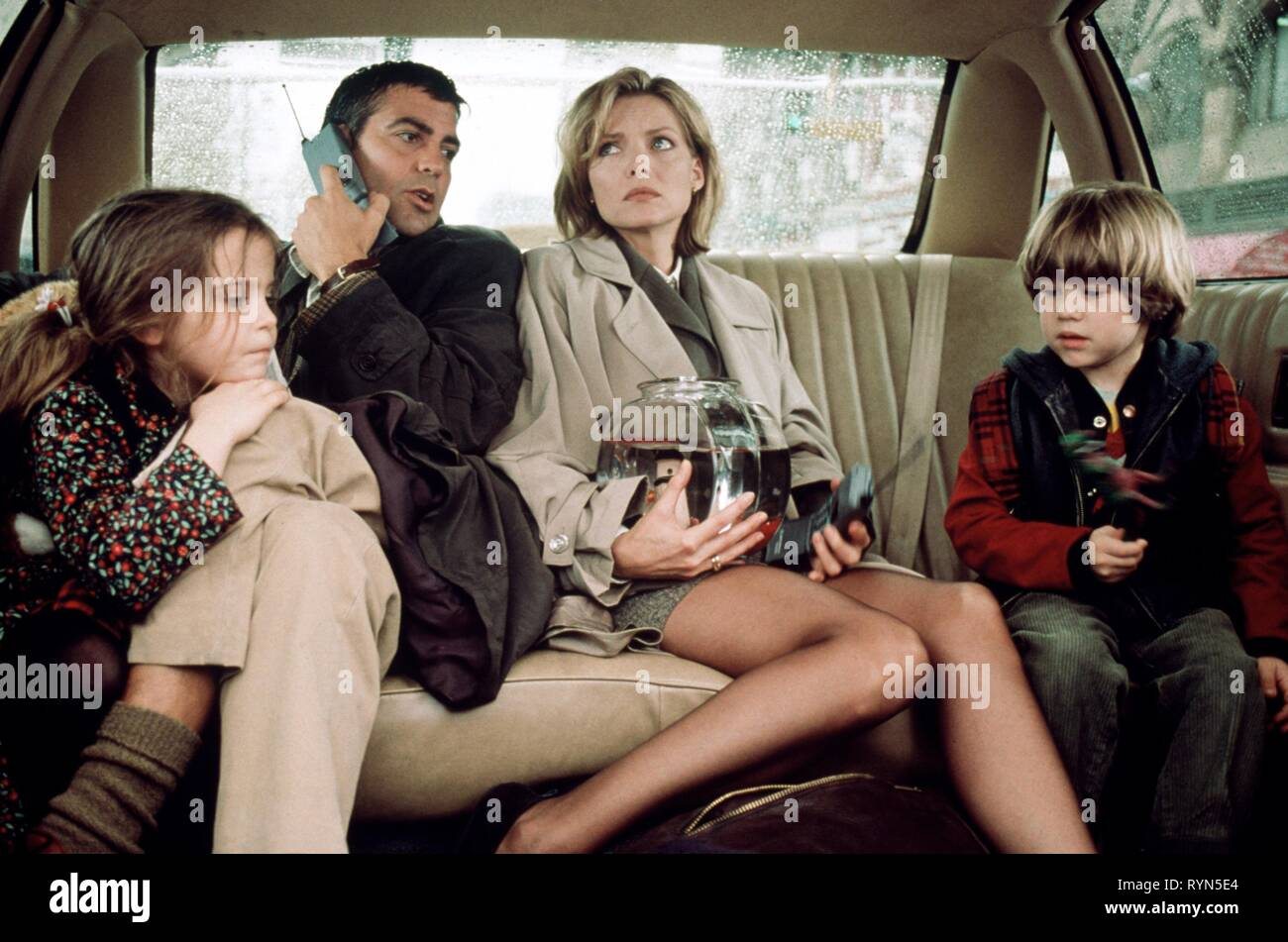 WHITMAN,CLOONEY,PFEIFFER,LINZ, ONE FINE DAY, 1996 Stock Photo