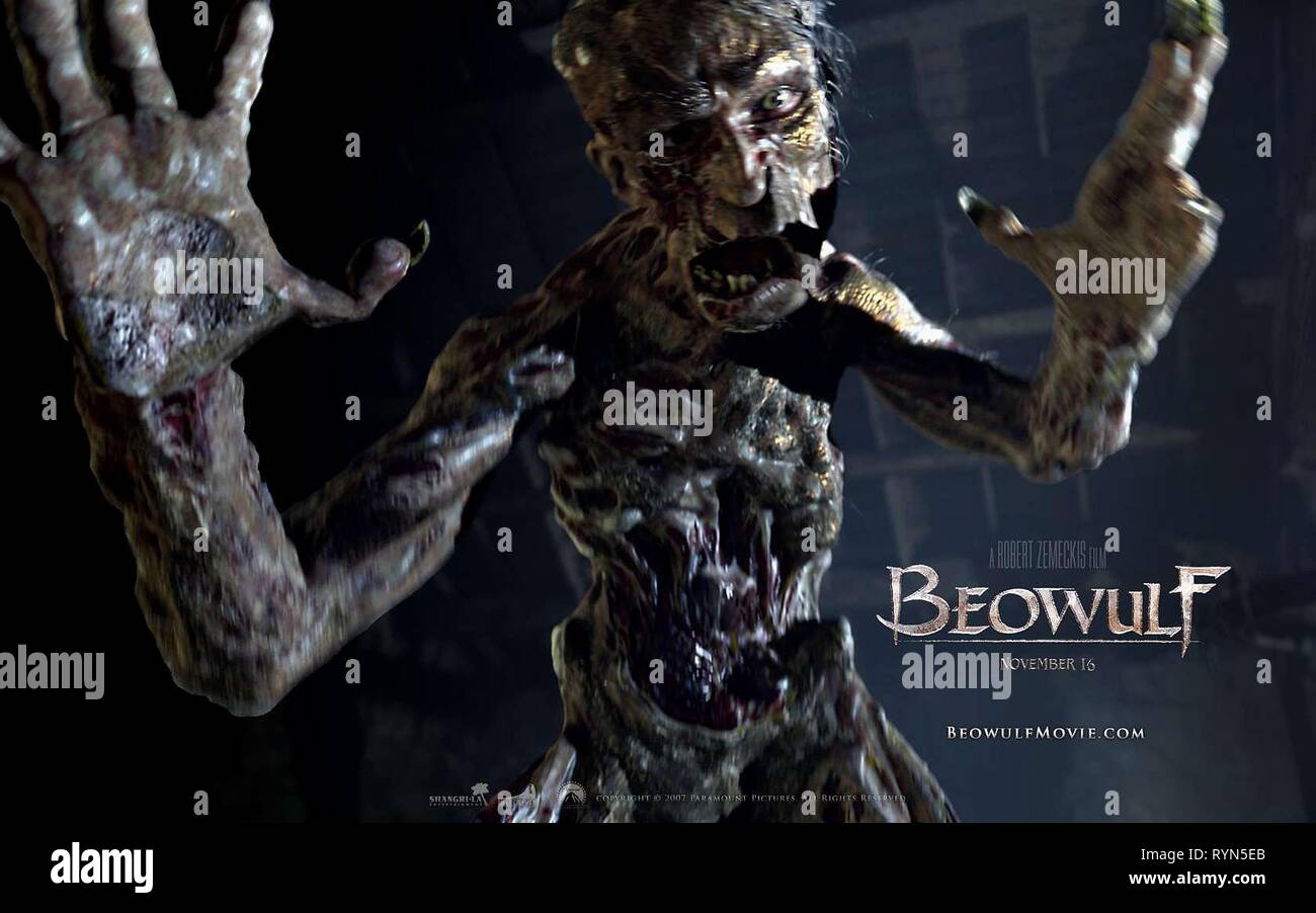 GRENDEL POSTER, BEOWULF, 2007 - Stock Image