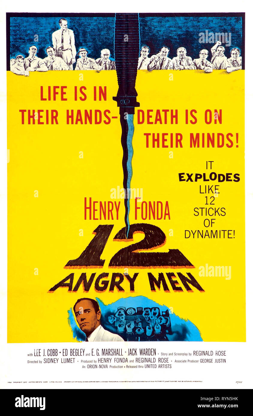 MOVIE POSTER, 12 ANGRY MEN, 1957 - Stock Image