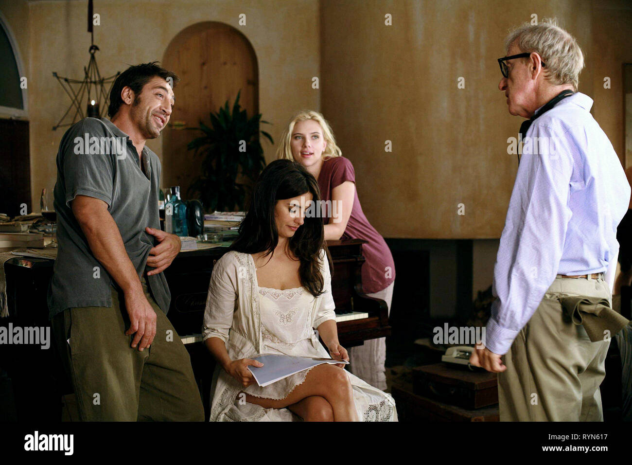 BARDEM,CRUZ,JOHANSSON,ALLEN, VICKY CRISTINA BARCELONA, 2008 - Stock Image