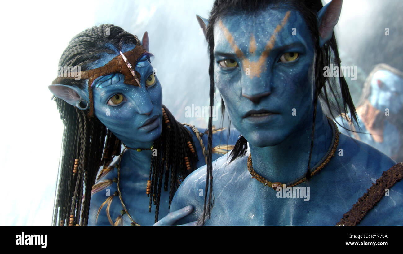 SALDANA,WORTHINGTON, AVATAR, 2009 - Stock Image