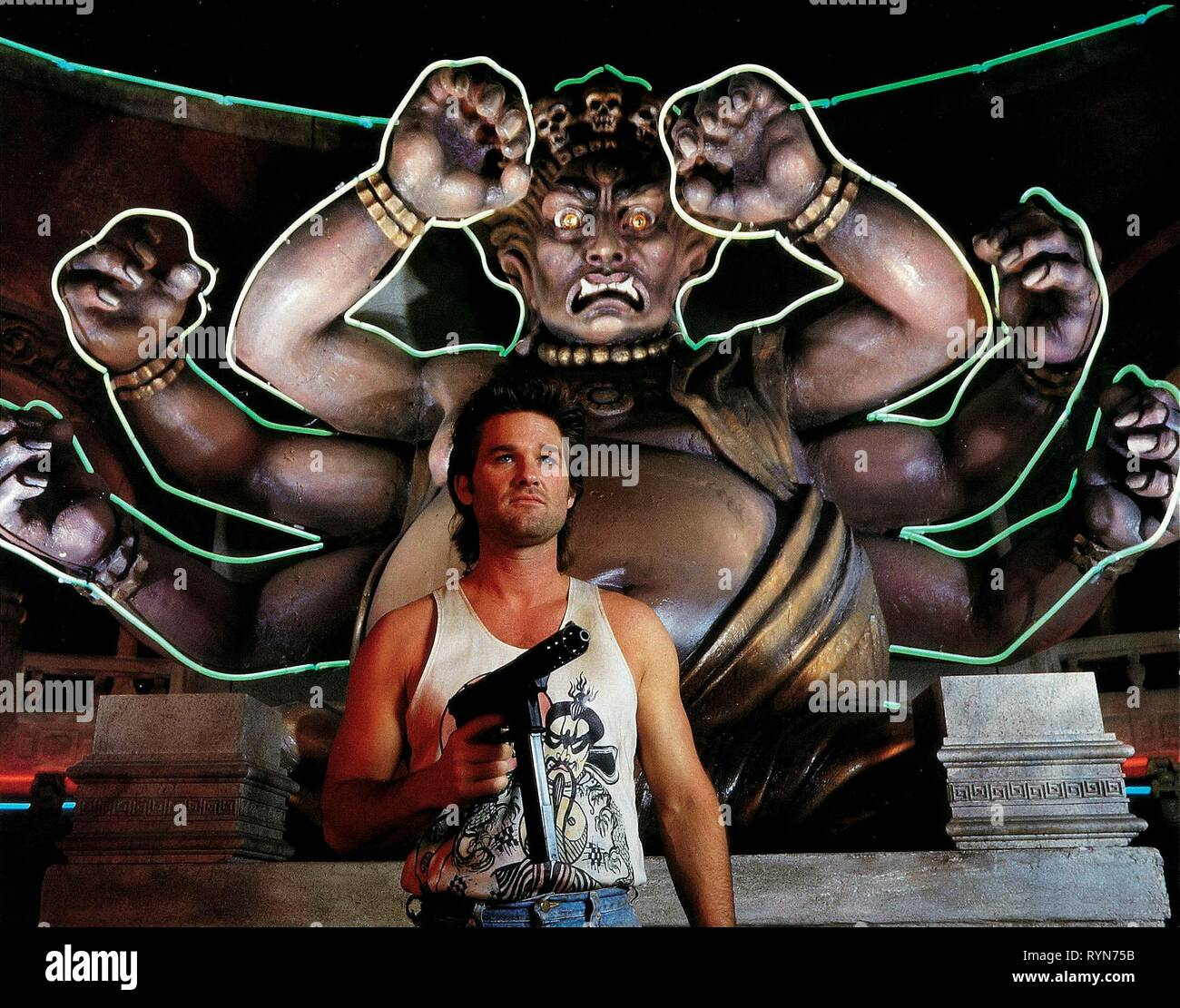Kurt Russell Big Trouble In Little China 1986 Stock Photo