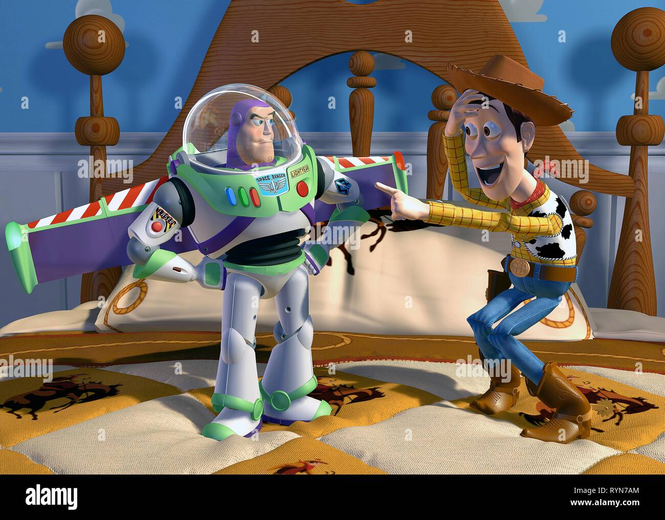 LIGHTYEAR,WOODY, TOY STORY, 1995 - Stock Image