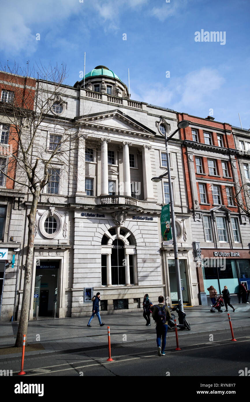 The Ulster Bank building former hibernian bank on 3-4 oconnell street Dublin Republic of Ireland Europe Stock Photo