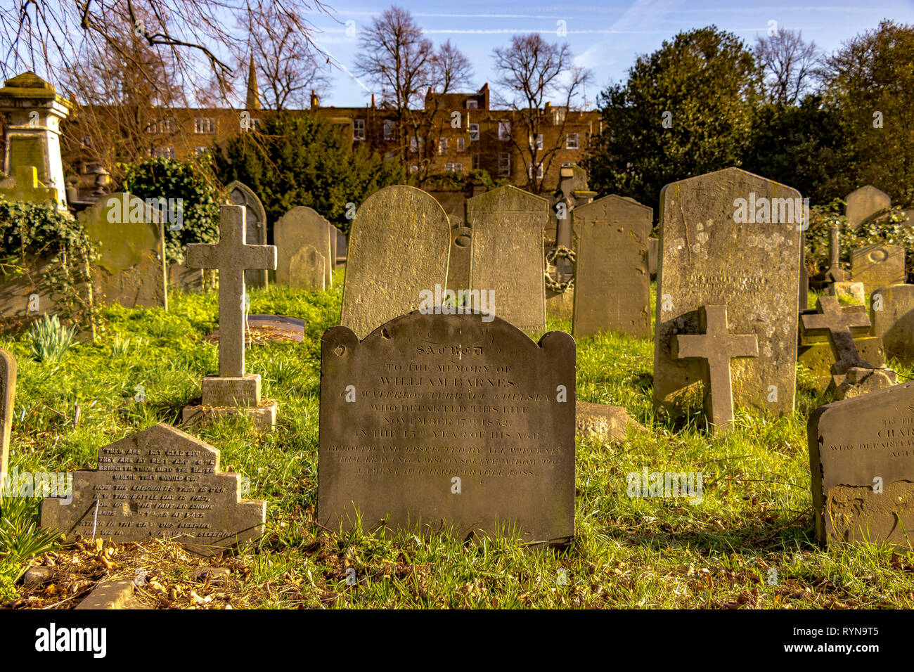Brompton Cemetery is a London cemetery in the Royal Borough of Kensington and Chelsea, managed by The Royal Parks Stock Photo