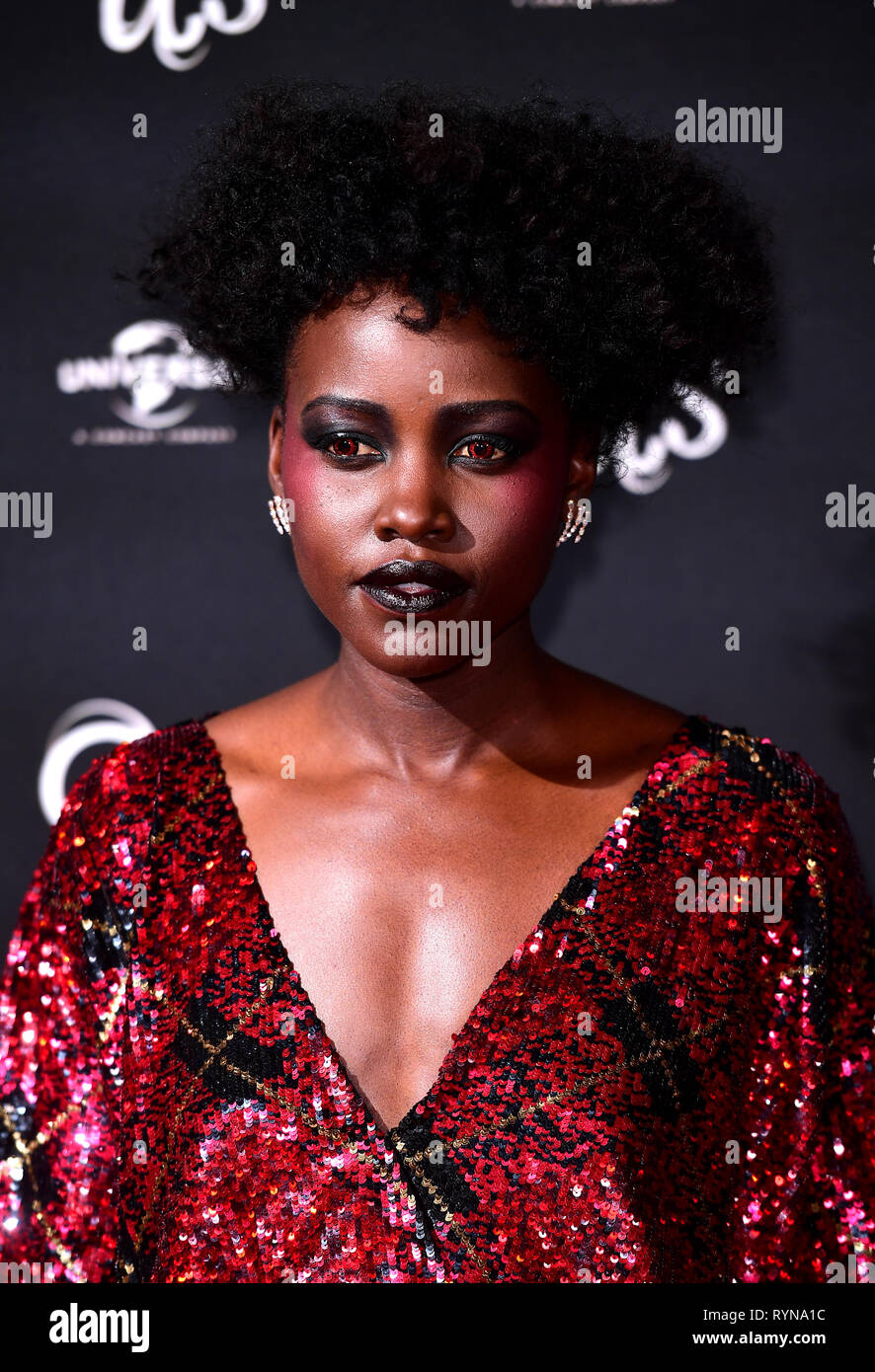 Lupita Nyong O Attending An Exclusive Screening Of Us Mr Peele S New Film At Picturehouse Central On Shaftesbury Avenue London Stock Photo Alamy