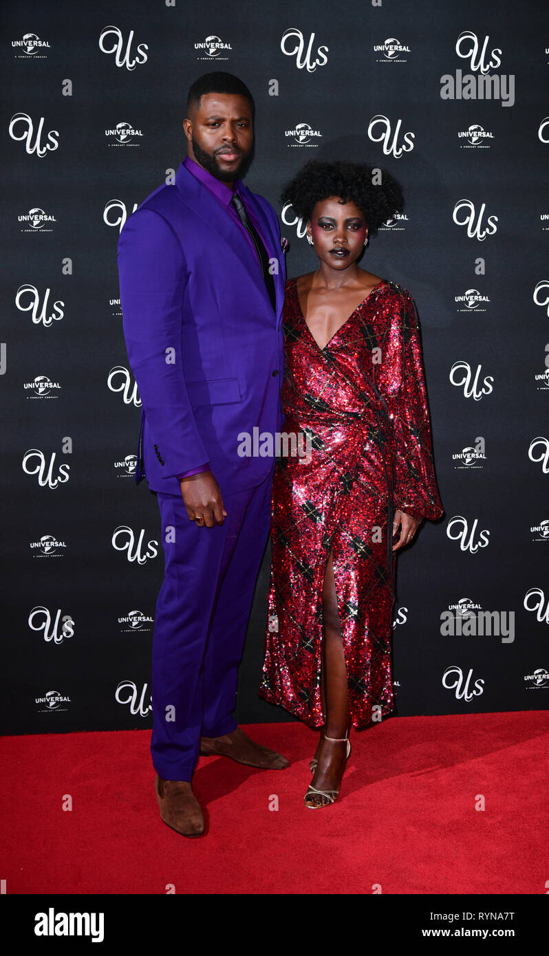 Winston Duke And Lupita Nyong O Attending An Exclusive Screening Of Us Mr Peele S New Film At Picturehouse Central On Shaftesbury Avenue London Stock Photo Alamy