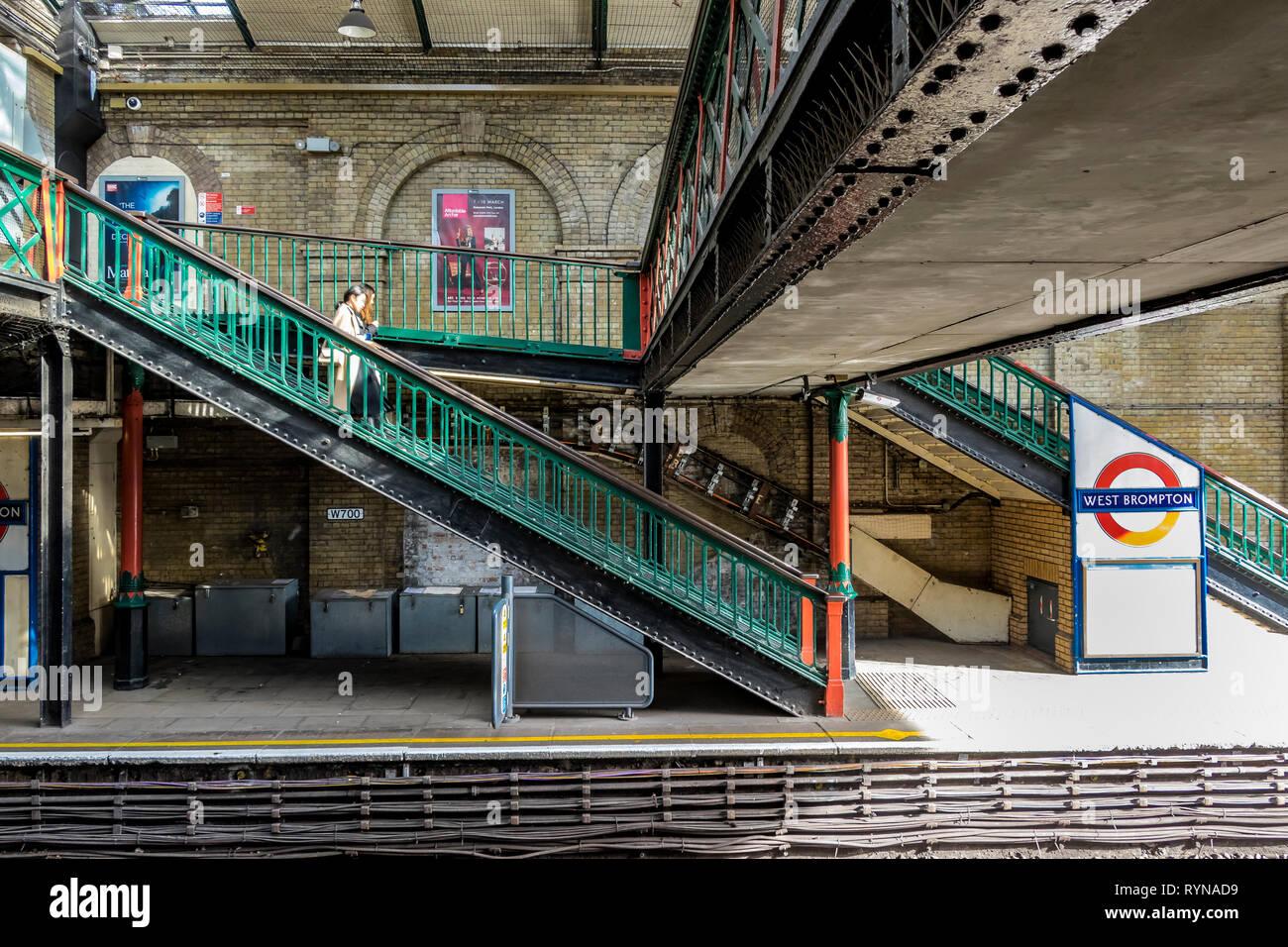 West Brompton Underground Station - Stock Image