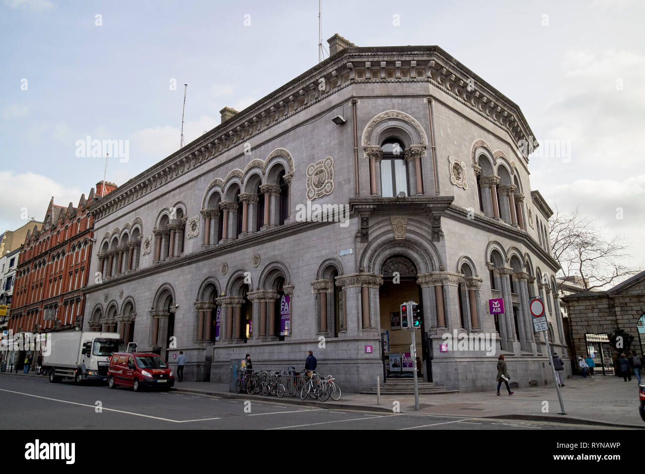 The Allied Irish Bank building on Dame Street originally built for the munster and leinster bank Dublin Republic of Ireland Europe - Stock Image