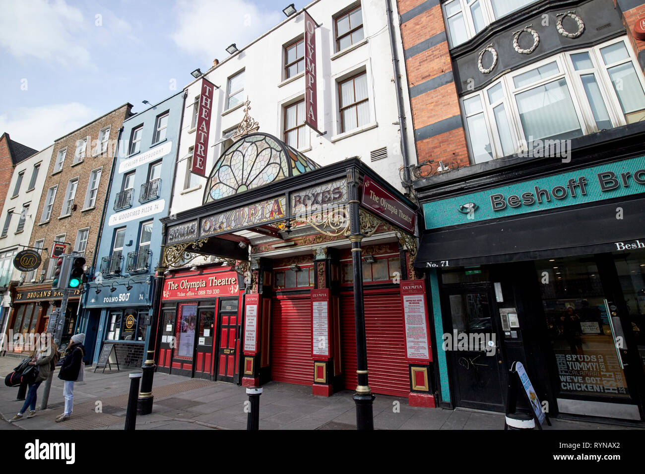 The Olympia Theatre Dame Street Dublin Republic of Ireland Europe Stock Photo