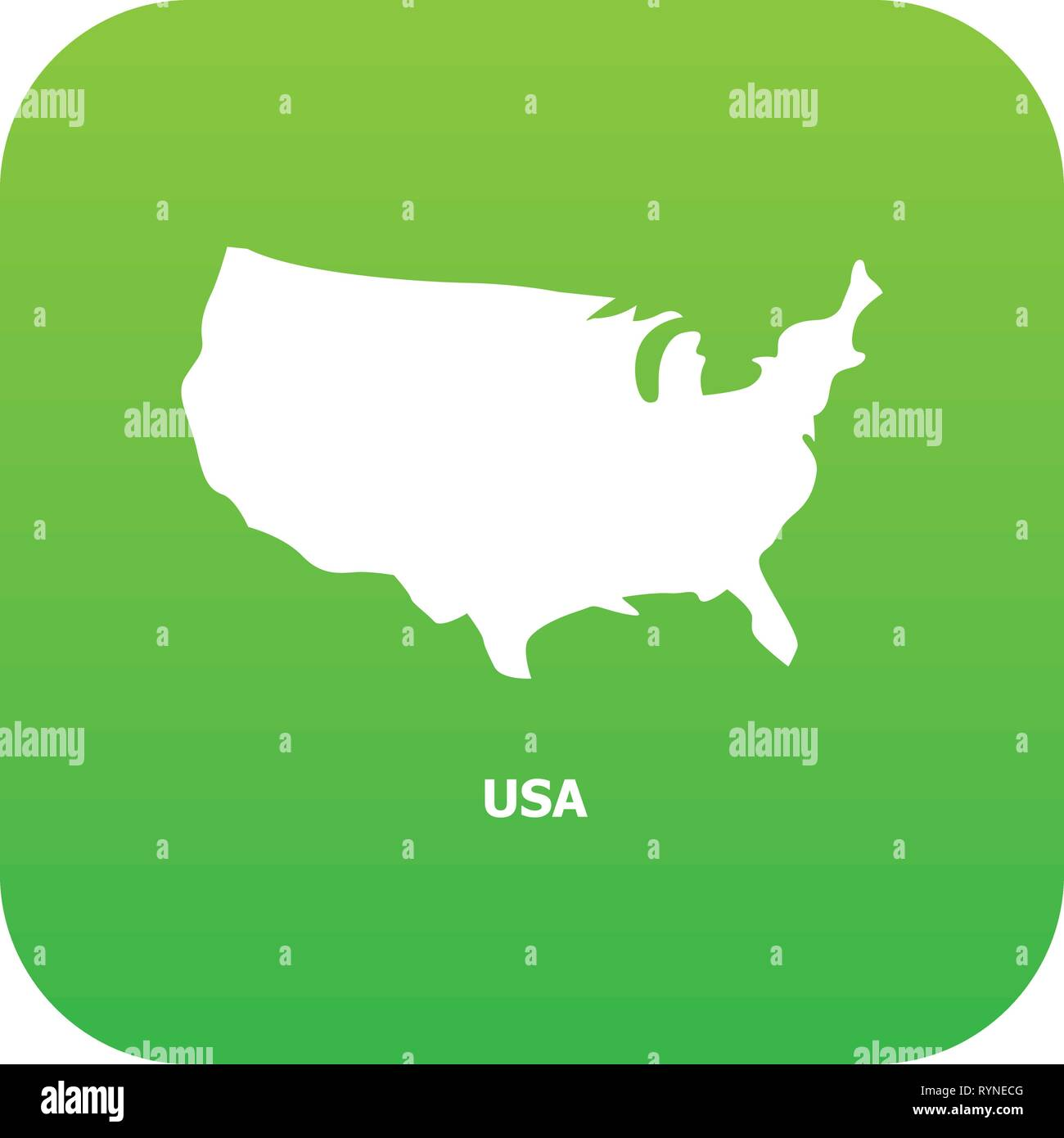 Usa Map Icon Simple Style Stock Vector Art Illustration