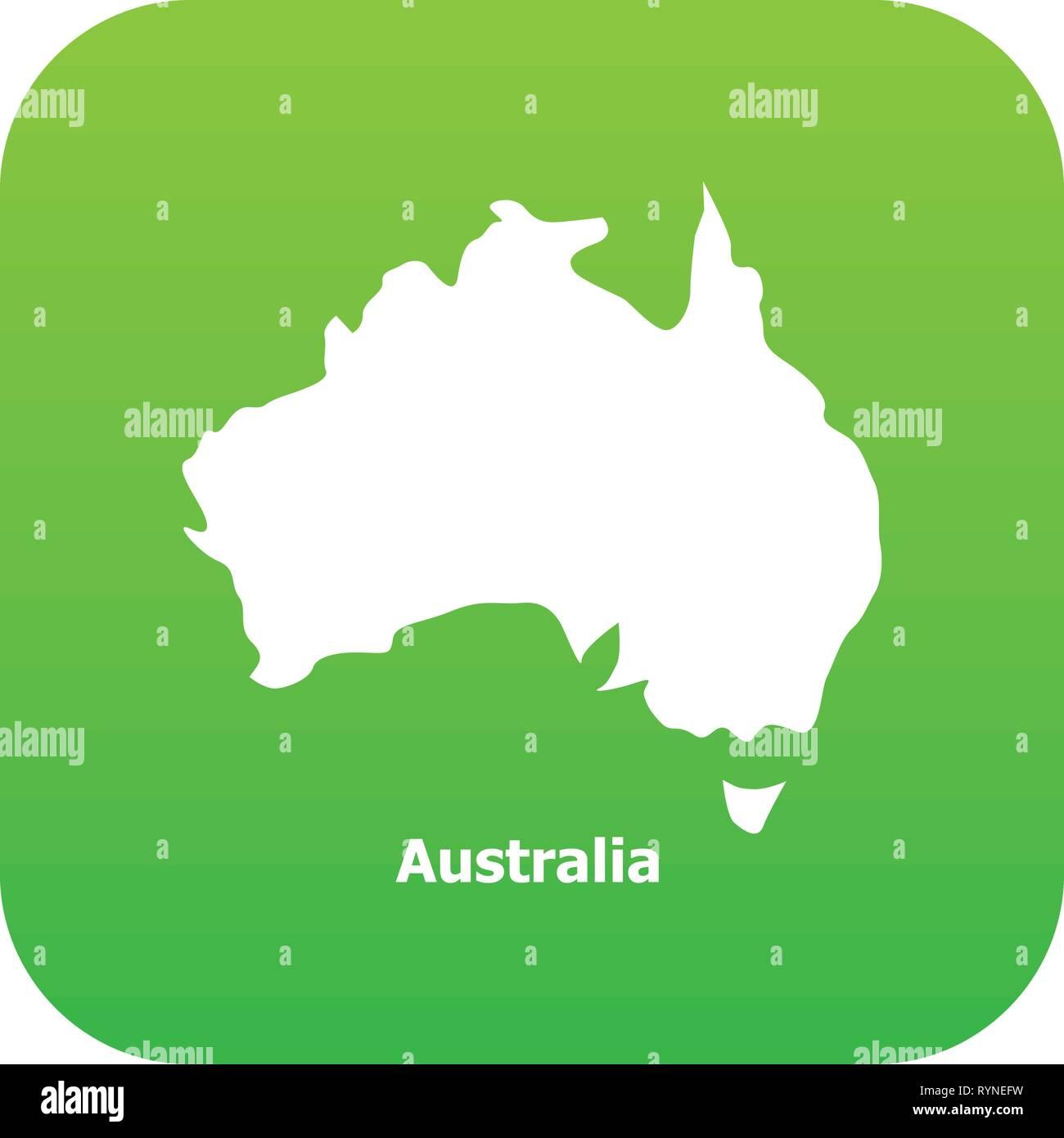 Australia Map Icon.Australia Map Icon Simple Style Stock Vector Art Illustration