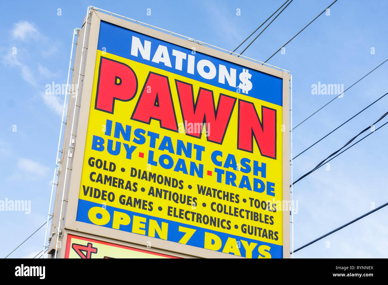 North American Pawn Shop Stock Photos & North American Pawn Shop