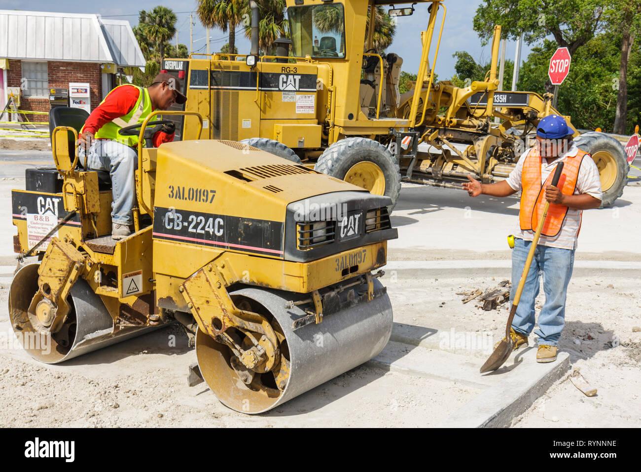 Florida Jensen Beach Road Construction Public Works Crew Hispanic