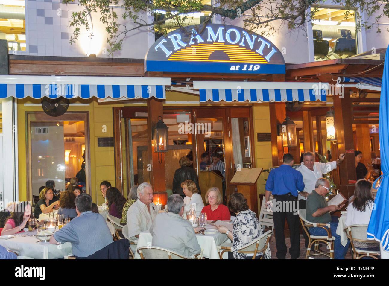 Florida Delray Beach Atlantic Avenue Restaurant Row Tramonti